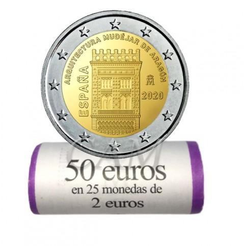 Rouleau Espagne 2020 - 2 euro commémorative Aragon