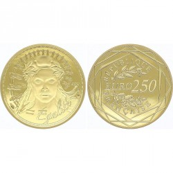 France 2018 - 250 euros OR Marianne