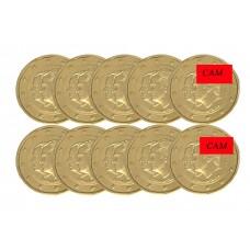 Lot x10 Espagne 2014 - 2 euro commémorative dorée à l'or fin 24 carats