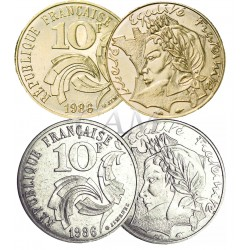 10 FRANCS JIMENEZ + DOREE OR FIN 24 CARATS