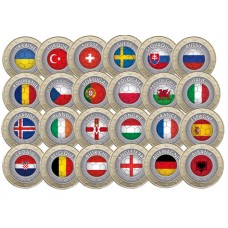 Collection 24 pièces Football - 1 euro domé