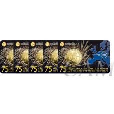Lot x5 Belgique 2020 Coincard - 2.50 euros La paix