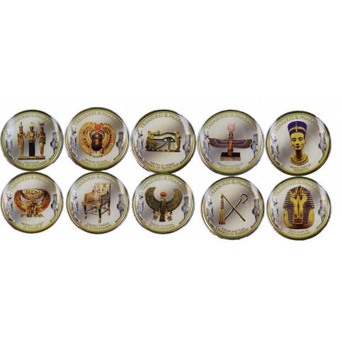 Coffret de 10 Monnaies pharaons en couleur