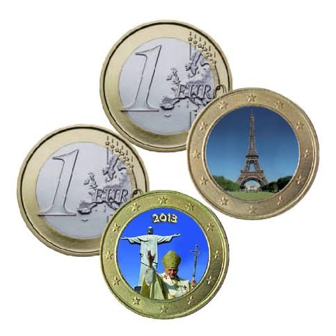 Lot de 2 pièces 1 euro Monuments Historiques