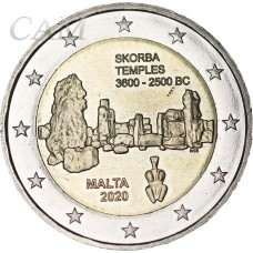 Mlate 2020 - 2 euro commémorative Temple Skorba