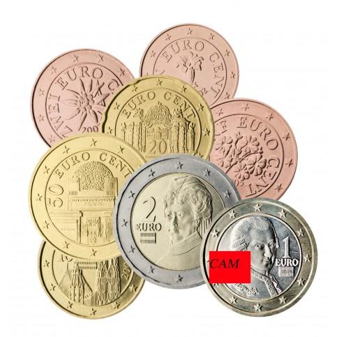 Autiche 2020 - série complète euro neuve