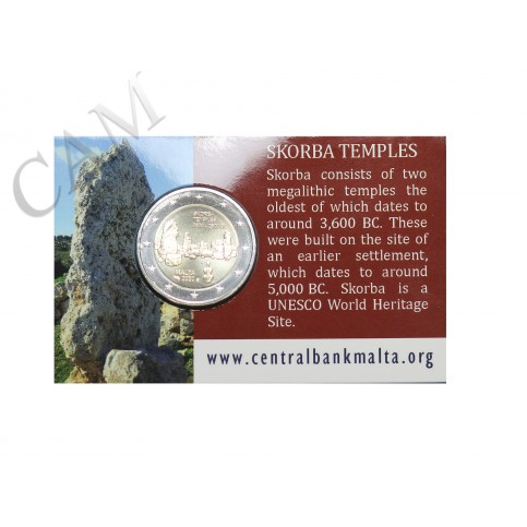 Coincard Malte 2020 - 2 euro commémorative Temple Skorba