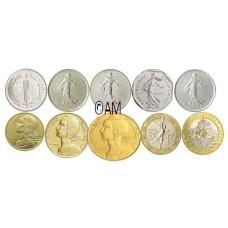 France 2001 - Dernières série Francs