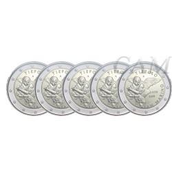 Lot de 5 pièces Saint Marin 2020 - 2 euro commémorative Tiepolo