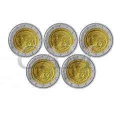 Lot x 5 Grèce 2020 - 2 euro commémorative Union de la Thrace