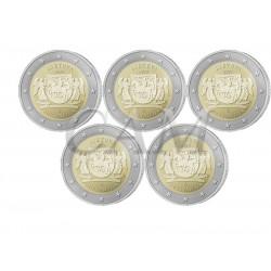 x5 pièces Lituanie 2020 - 2 euro commémorative Aukstaitija