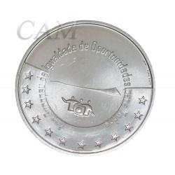 """Portugal 2007 - 5 euro """"Egalité des chances"""""""