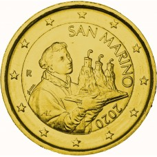 2€ Saint Marin 2020 - dorée or fin 24 carats