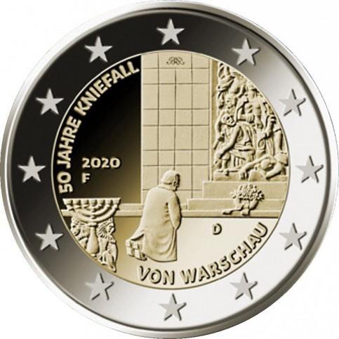 Allemagne 2020 - 2 euro commémorative Génuflexion de Varsovie