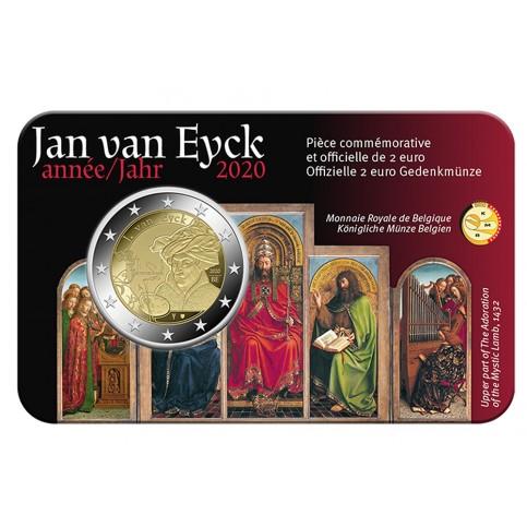 Coincard Belgique 2020  - 2 euro commémorative Jan Van Eyck