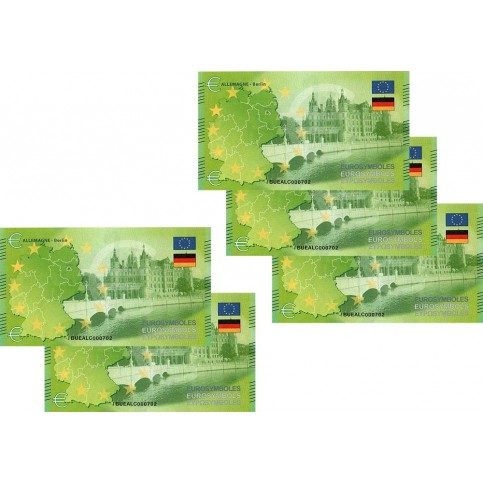 Allemagne : Lot de 5 Billets Thématiques euro