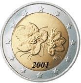 Finlande 2 Euro 2001 Arthur Maury