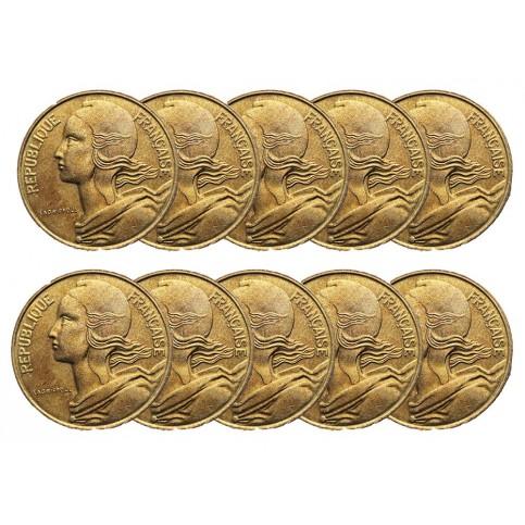 LOT DE 10 PIECES - 5 Centimes Marianne