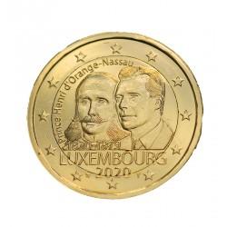Luxembourg 2020 - 2€ commémorative dorée à l'or fin 24 carats