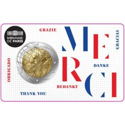 "France 2020 - 2 euro commémorative ""Merci"""