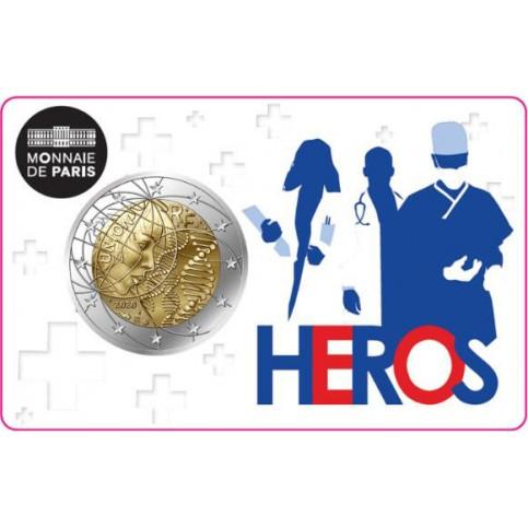 """France 2020 - 2 euro commémorative """"Héros"""""""