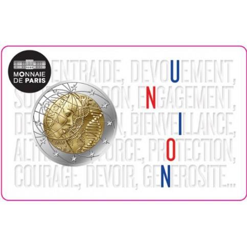 """France 2020 - 2 euro commémorative """"Union"""""""