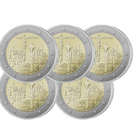 Lot x5 Lituanie 2020 - 2 euro commémorative Colline des Croix