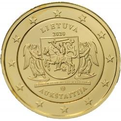 Lituanie 2020 - 2 euros dorée à l'or fin 24 carats