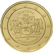 2€ commémorative - Lituanie 2020 dorée à l'or fin 24 carats