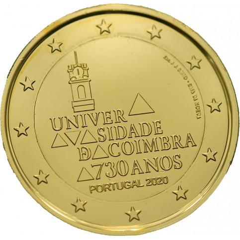 Portugal 2020 dorée à l'or fin 24 carats - 2€ commémorative