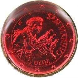Saint Marin 2020 - dorée OR fin 24 carats Rubis précieuse
