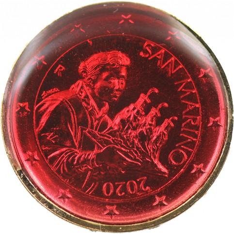 Saint Marin 2020 - dorée OR fin 24 carats Rubis