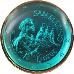 Saint Marin 2020 - dorée OR fin 24 carats Saphir précieuse