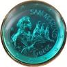 Saint Marin 2020 - dorée OR fin 24 carats Saphir