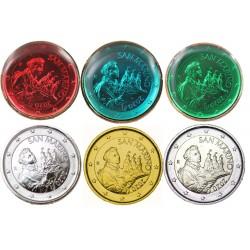 Collection complète Saint Marin 2020 - 2 euros  Précieuses