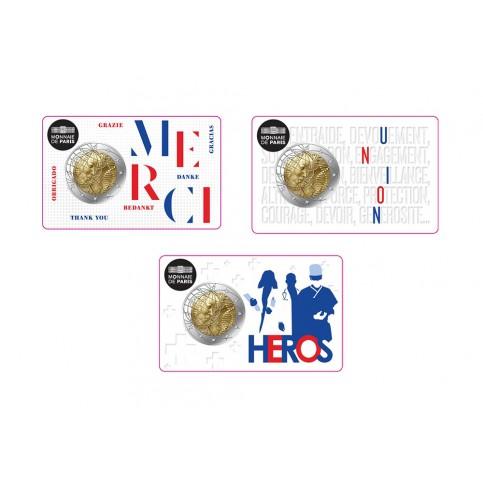 Série 3 coincards France 2020 - 2 euro commémorative