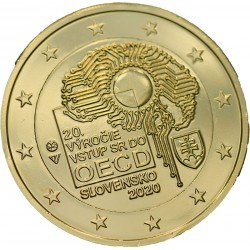 Slovaquie 2020 - 2 euro dorée à l'or fin 24 carats