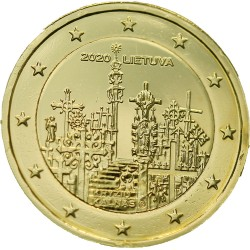Lituanie 2020 - 2 euro dorée à l'or fin 24 carats