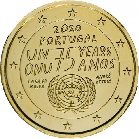 Portugal 2020 - 2 euro dorée à l'or fin 24 carats