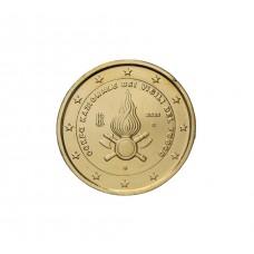 Italie 2020 - 2 euro dorée à l'or fin 24 carats
