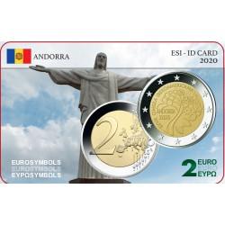 Andorre 2020 Ibéro Américain - Carte commémorative