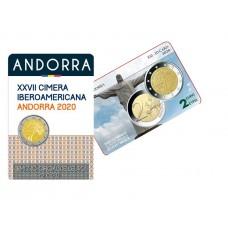 Lot Andorre 2020 - 2 euro commémorative Ibero-Américain