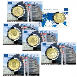 Lot de 5 Coincards Europe - série Parlement
