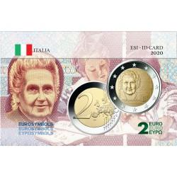 Italie  2020 Montessori - Carte commémorative