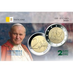 Vatican 2020 JP II - Carte commémorative