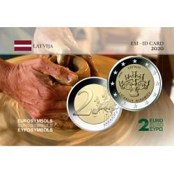 Lettonie 2020 Céramique - Carte commémorative