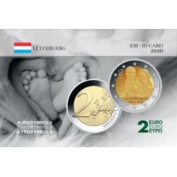 Luxembourg 2020 Naissance - Carte commémorative