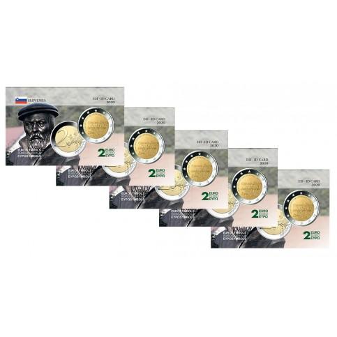 Lot x5 Slovénie  2020 - Carte commémorative