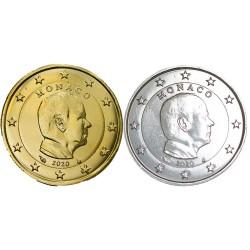 1 euro Monaco 2020 Albert+dorée+argentée