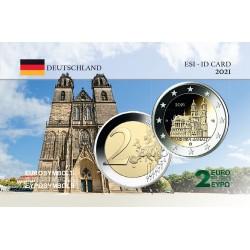 Allemagne 2021 sachsen - Carte commémorative